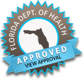 Tattoo Certification approved by Florida Department of Health.